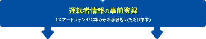運転者情報の事前登録(スマートフォン・PC等からお手続きいただけます。)
