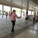 ピンクリボン運動倉敷駅北口